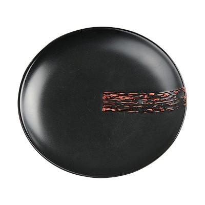 Teller 'Pinselstrich' rund