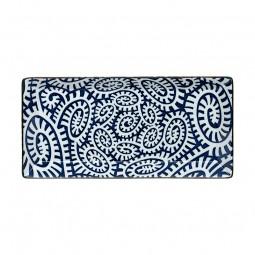 Teller rechteckig - Karakusa Blau 23x11,5cm