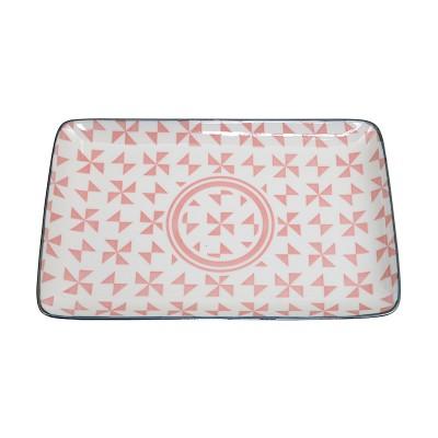 Teller rechteckig 'Kidowaku - Origami' pink