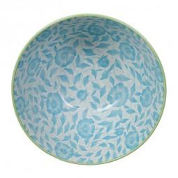 Teller rund 'Karahana - aquamarin/grün'