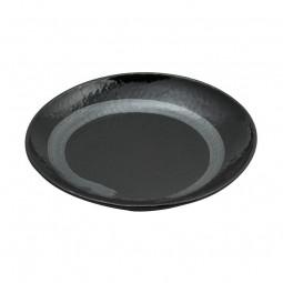 Teller 'Schwarz Silber' rund