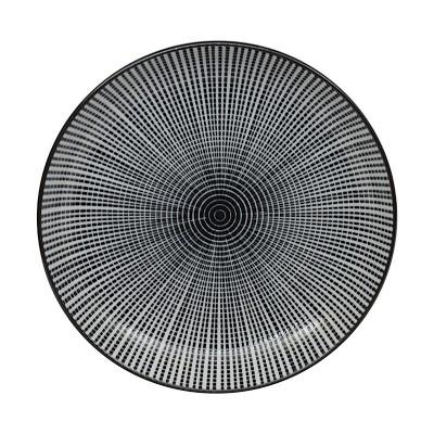 Teller 'Sendan Tokusa' schwarz 15,5cm