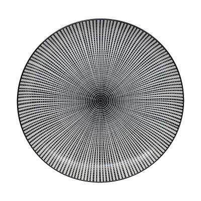 Teller 'Sedan Tokusa' schwarz 21,5 cm