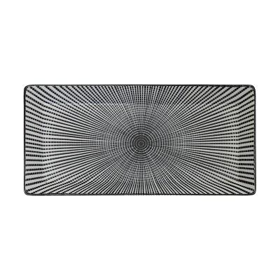 Teller 'Sendan Tokusa' schwarz 23x11,5cm