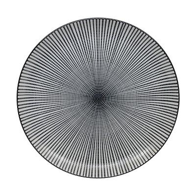 Teller 'Sendan Tokusa' schwarz 25cm