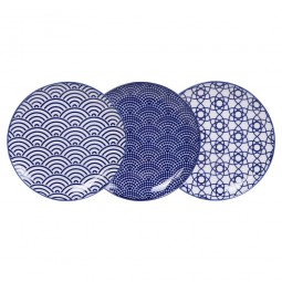 Teller-Set 'Japan Blau' 16 cm
