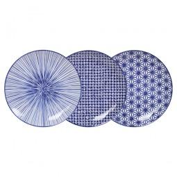 Teller-Set 'Japan Blau' 20,6 cm