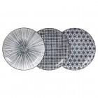 Teller-Set 'Japan Schwarz' 20,6 cm
