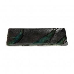 Teller 'Stein und Moos' 28,5cm breit