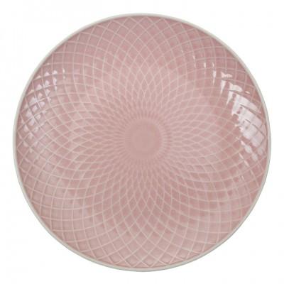 Teller 'Struktur - Bishi - rosa' 25cm