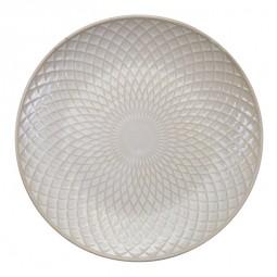 Teller 'Struktur - Bishi - weiß' 25cm