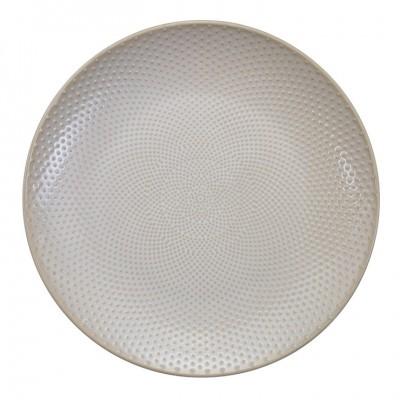 Teller 'Struktur - Mizutama - weiß' 25cm