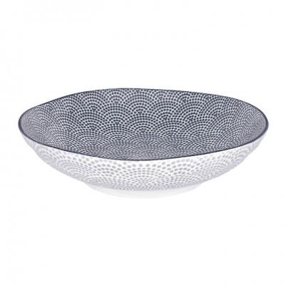 Tiefer Teller - Japan grau - Samekomon - 21x5,2cm