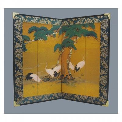 Tisch-Paravent - Matsu ni Tsuru