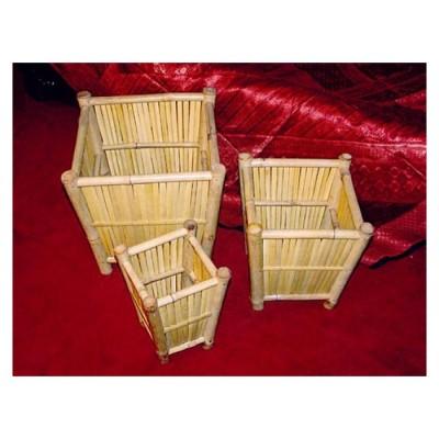 Übertopf Bambus, konisch