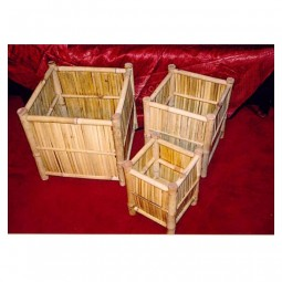 Übertopf Bambus, quadratisch