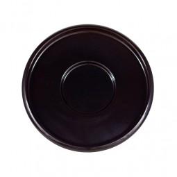 Untersetzer - schwarz rund Holzbasis