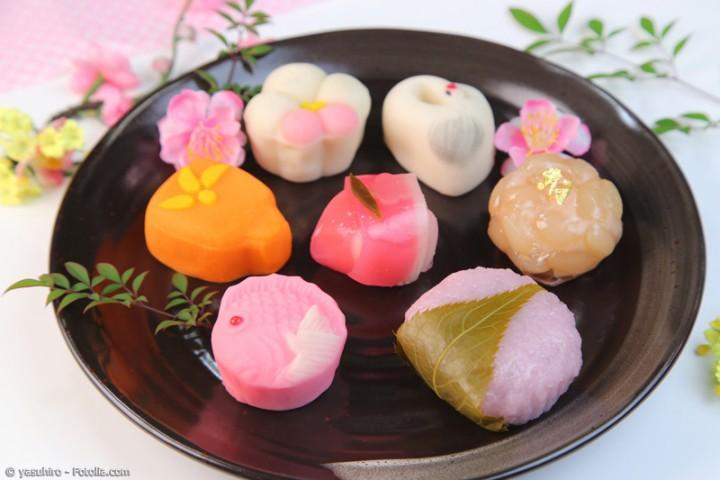 Wagashi – traditionelle japanische Süßigkeit im modernen Stil