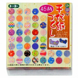 Washi Chiyogami Tsukushi 7,5cm Großpackung