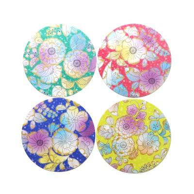 Washi Coaster Momoyama Tsujiga Flower
