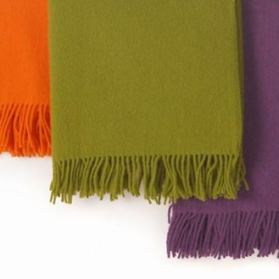 Wolldecke - einfarbig