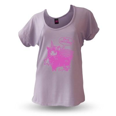 Yakitori Raglanshirt, I'm A Unicorn pink