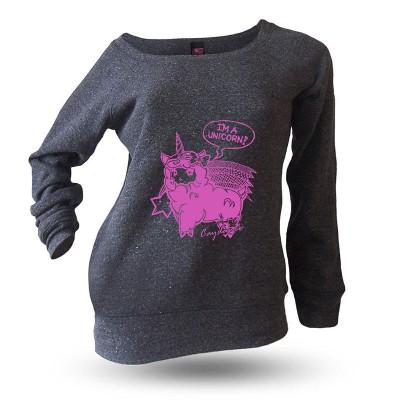 Yakitori Raglansweatshirt, I'm A Unicorn pink