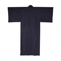 Yukata Leinenblüte L blau BW gefüttert 59''