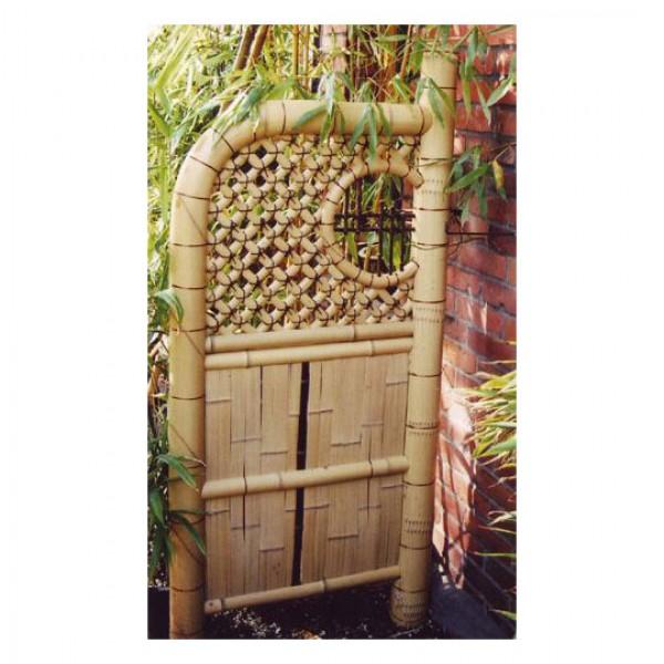 Zaunelement sode gaki mit fenster z une bambusz une for Fenster 30x30