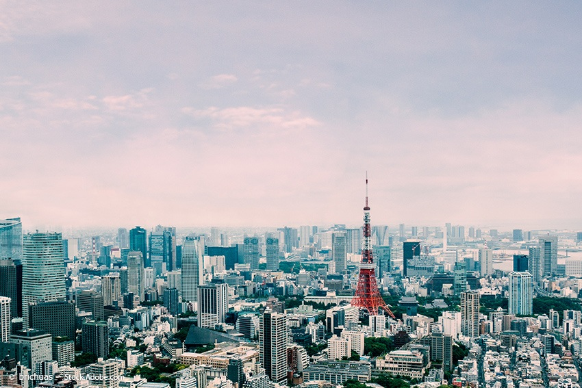 Architektur Tokyo Tower Skyline