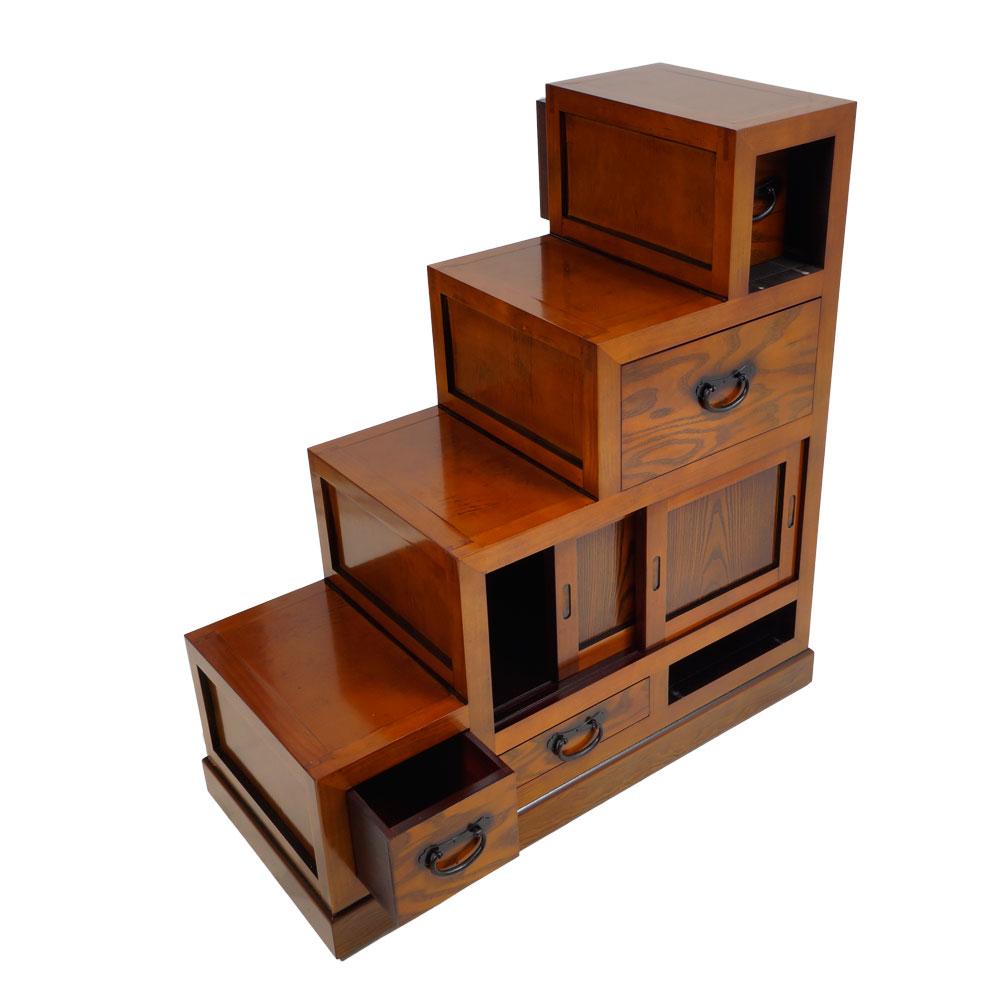 Treppen tansu klein aus hellem holz japanischer schrank for Schrank 30x30