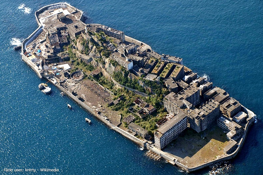 Insel Hashima Bergbau