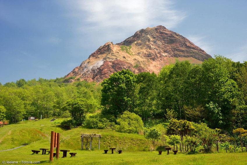 Der Vulkan Uzu-san sorgte in Hokkaido bereits für einigen Aufruhr. Auch jetzt ist er noch aktiv.
