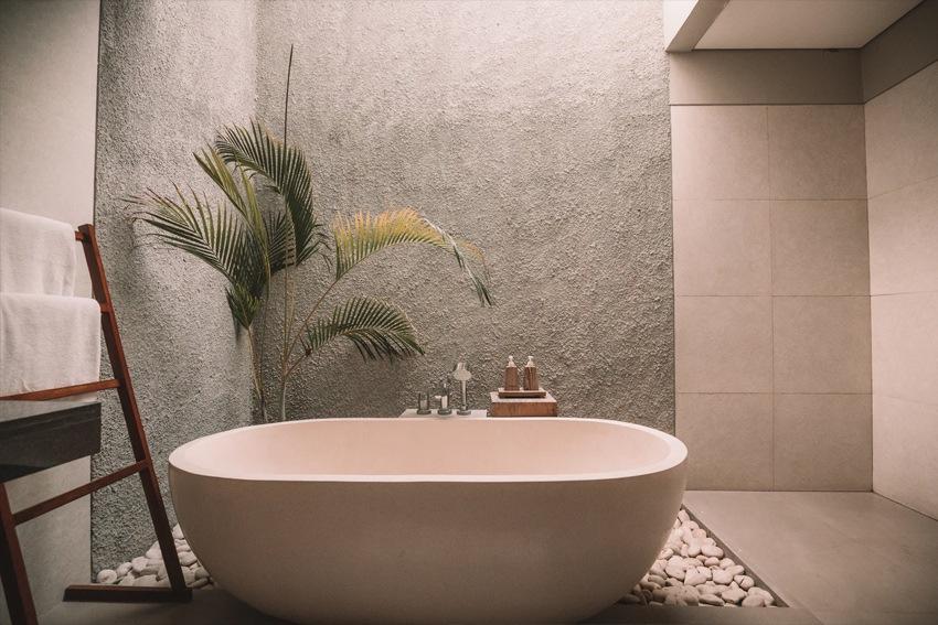 Wohnen im Wabi Sabi Stil - puristische Eleganz im Bad