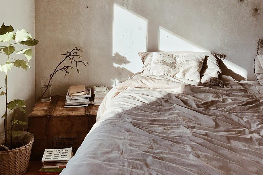 Wabi Sabi Lifestyle im Schlafzimmer