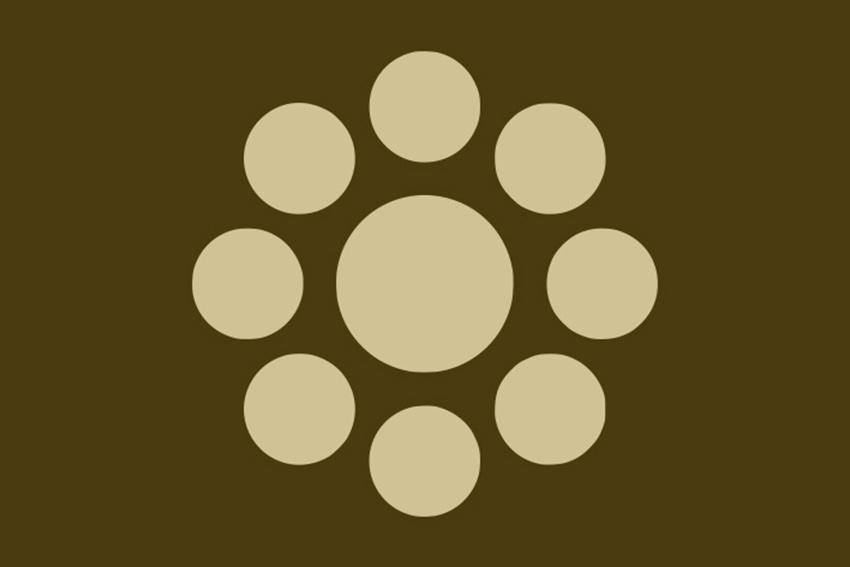 Das Wappen der Familie Higo-Hosokawa