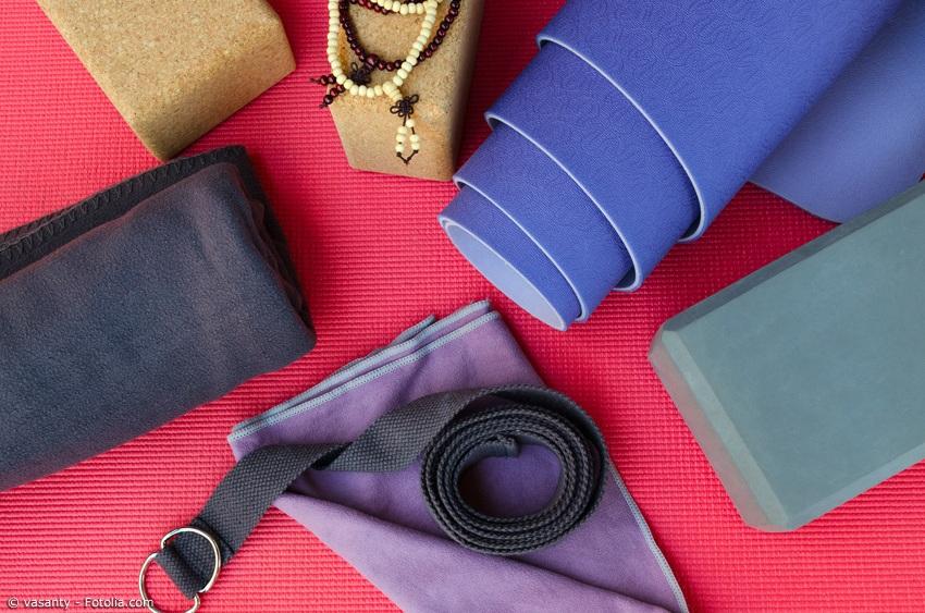 Yoga Matte, Decke, Gurt, Block und Kette für Einsteiger und Fortgeschrittene