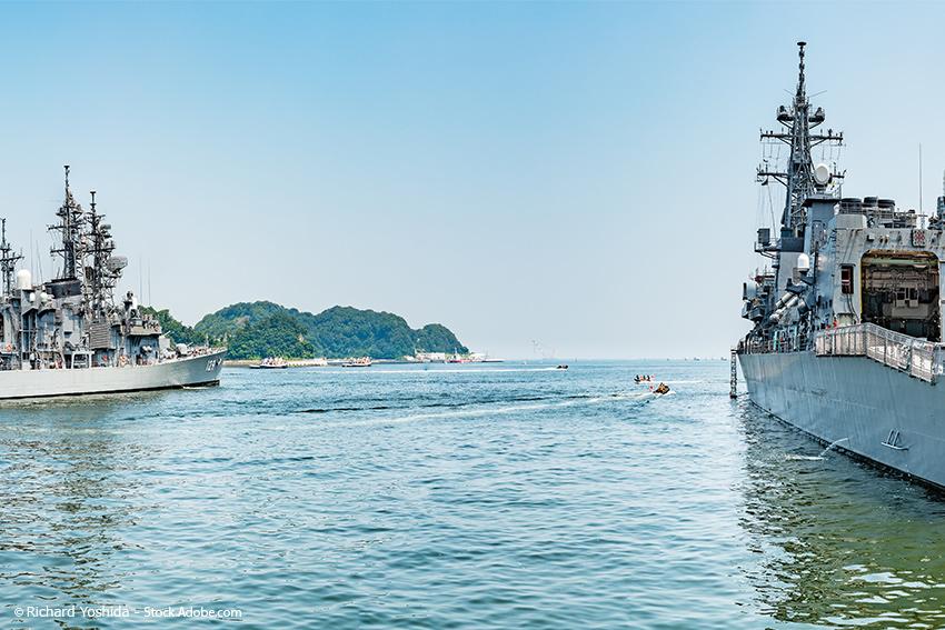 Yokosuka Naval Base in Yokosuka